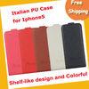 Italian PU shelf-like design phone case,mobile phone case