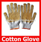 Plastic Dripping Skidproof Durable Common Cotton Knitted Working Gloves