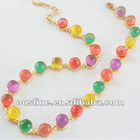 sweet colorful glass bead necklace