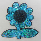 Sun flower sequin motif
