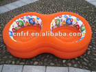 Inflatable Flocked Double Seat Sofa Chair