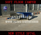 Newest style camper trailer SF74L with tail gate stainless steel kitchen