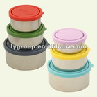 3 pcs per set Food-grade stainless steel container & BPA-free LDPE lid