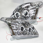 For TOYOTA Prado FJ120 LED Headlight Angel Eyes 2003 V3 Type