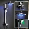 Hot and Temperature Sensitive No Battery Ceiling LED Rain Top Shower