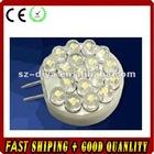 LED G4 light;18pcs 5mm strat hat led;1W;DC12V input;cool white color