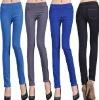 lady pants blouse skinny leg elastic fashion