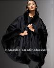 2012 Winter Trimmed Wool Cape for women HST801