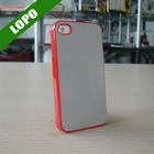 Sublimation Case For iphone4/4s(plastic material,17colors to choose)