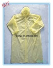 PE-014 PE light weight hot promotion clear plastic raincoat