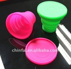 Silicon kitchenware foldable cup,silicon rubber collapsing cup ,available in microwave