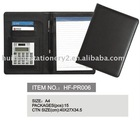 pu leather portfolio padfolio with memo pad logo embossed or printed for promotion gift