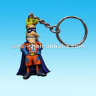 Cartoon Shape 3 D Soft PVC keychain For Promotion Gifts