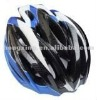 Bicycle helmet cycling helmet in blue, black and white
