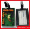 Hot sell rectangular 2D pvc luggage tags