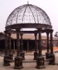 Wrought iron garden gazebo