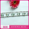 glass rhinestone cup chain