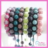 Wholesale Fashion Handmade Adjustable Crystal Shamballa Bracelet