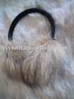women fake fur earflap