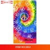 100% cotton fiber reactive printed velour beach towel