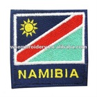 Embroidery velcro on country name flag badge