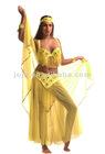 Belly dance costume tops veil scarf wear pants
