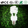Spiral energy saving lamp half spiral light lamp made by Xiamen manufacturer