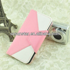 Colorful leather for iphone 5 wallet case