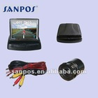 3.5 inch digital foldable car monitor /reverse monitor with high definition