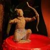 Q460-82Antique Chinese Warrior Status Ornament Stone Craft ornament