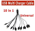 Copper 10 in 1 usb charger cable for normal brand mobile