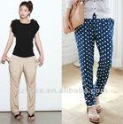 2012 New Fashion Lady Dot Casual Pants