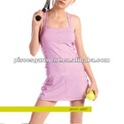 hot sell lady's knitted tennis dress with innerbra