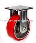 "5""heavy duty polyurethane cast iron core wheel caster"