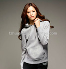 Stylish women figure flattering hoodies / sweatshirt pullover fashion CVC hoodie