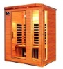 sauna room-3person super-luxury carbon plate infrared sauna cabin