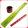 promotion gift custom pvc reflective slap band wristband