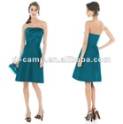 BD-098 Strapless off shoulder short bridesmaid dress patterns