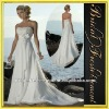 Hot Sale Long Chiffon Ruffled Beaded Mother Of The Bride Beach Wedding Dress
