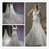 WR2102 Cap Sleeves Modest Vintage Lace Mermaid Muslim Wedding Gown