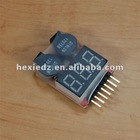 Lipo Battery Voltage Meter With Programmable Buzzer Alarm