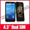 "4.3"" Dual Sim Unlocked Android 2.2 Touch Screen GPS Java WIFI TV Smart Mobile Phone A2000"