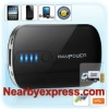 Black 2200mAh 1A Power Bank with 6 DC Tips and Built-in Flashlight for Tablets PC for iPhone