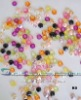 colorful loose glass beads