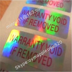 Custom Tamper Evident Labels,Hologram Warranty VOID Seal Stickers