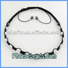 Wholesale Mixed Shamballa Necklace Iridescent AB Crystal Clay Bead Handmade Braided Jewellry PSN14-11