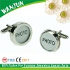 Custom cufflink with photo blank photo cufflink