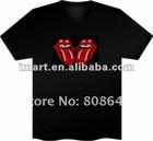 12pcs/lot, Sound Activated LED Light T Shirt Shirts Flashing EL Equalizer T-Shirt