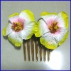 Frangipani flower hair comb, Frangipani hair comb