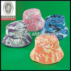 12 Childs Colored CAMOUFLAGE BUCKET HATS bulk FREE SHIP hat caps camouflaged
